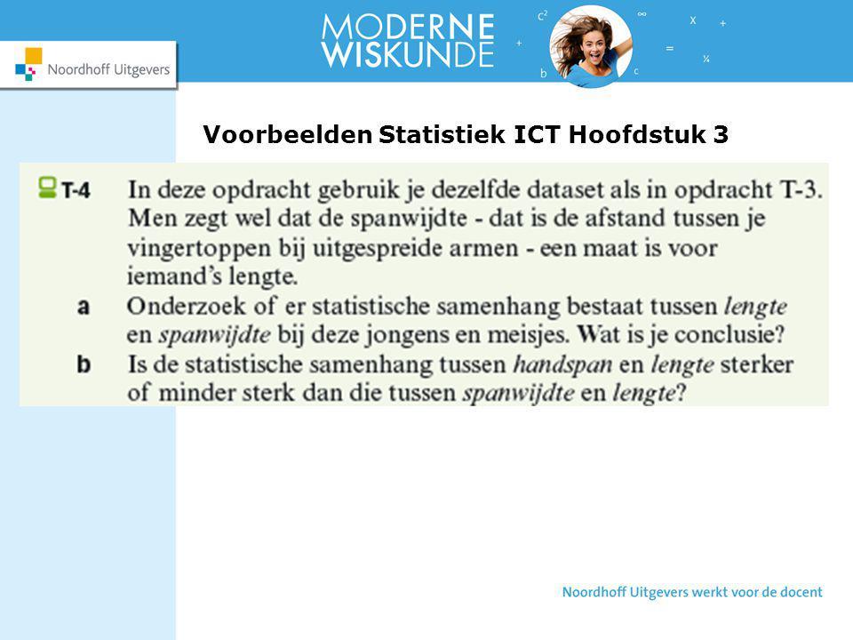 Voorbeelden Statistiek ICT Hoofdstuk 3