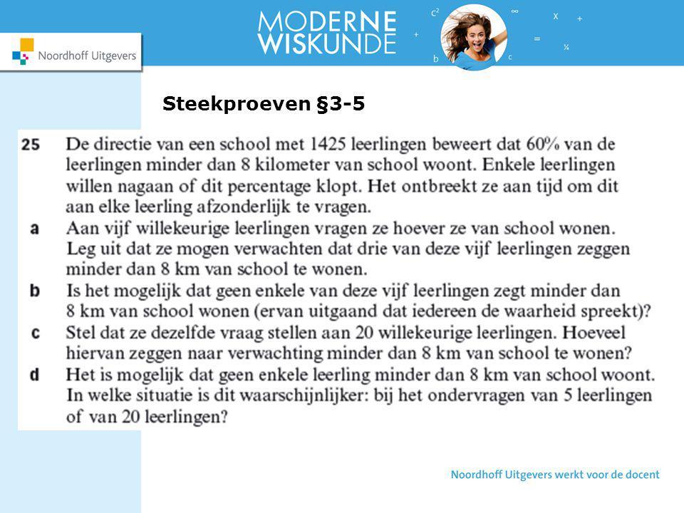 Steekproeven §3-5