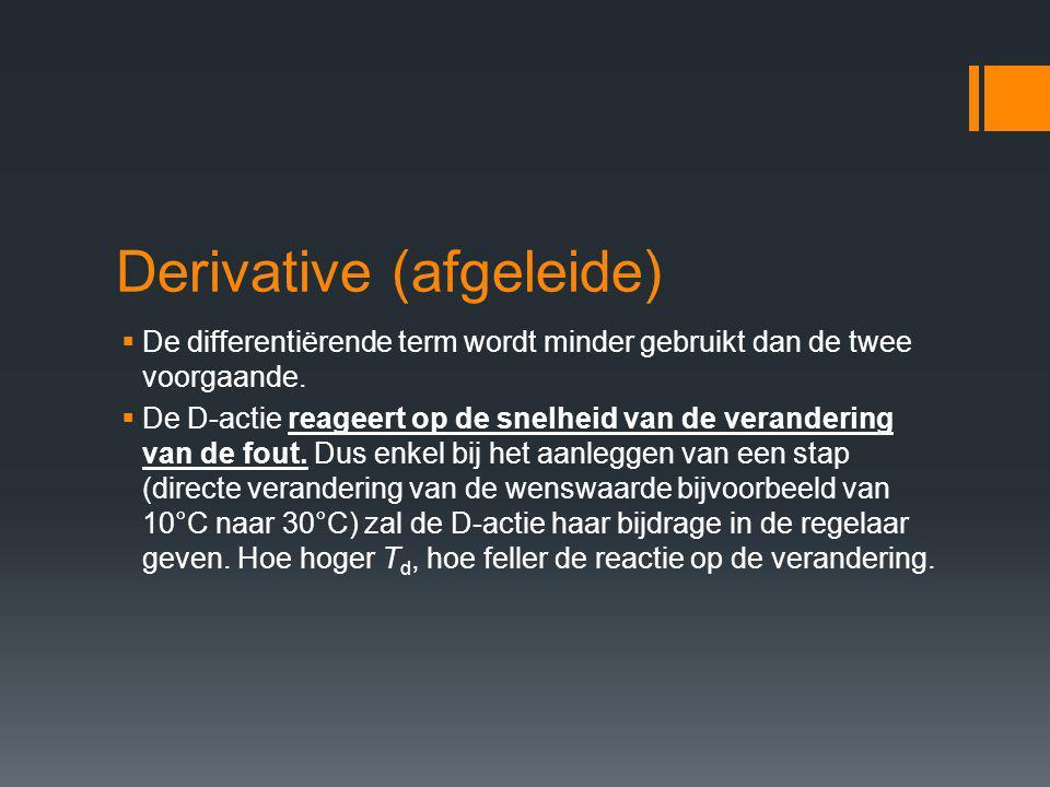 Derivative (afgeleide)