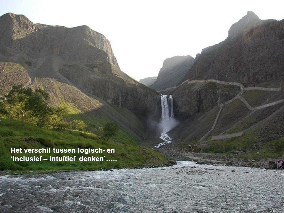 Het verschil tussen logisch- en 'inclusief – intuïtief denken'…..