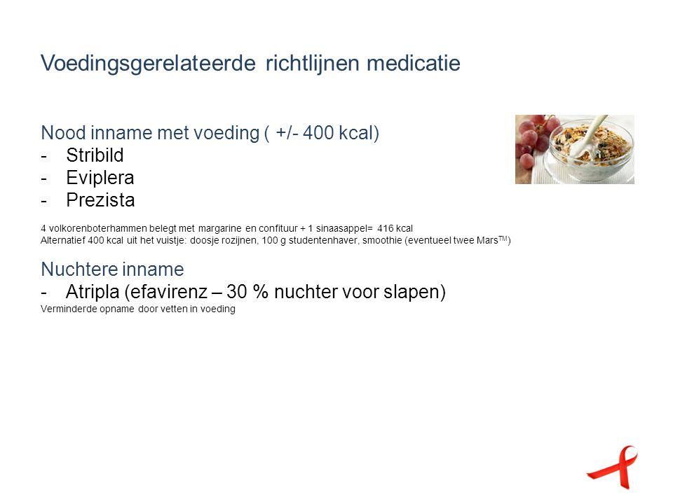 Voedingsgerelateerde richtlijnen medicatie