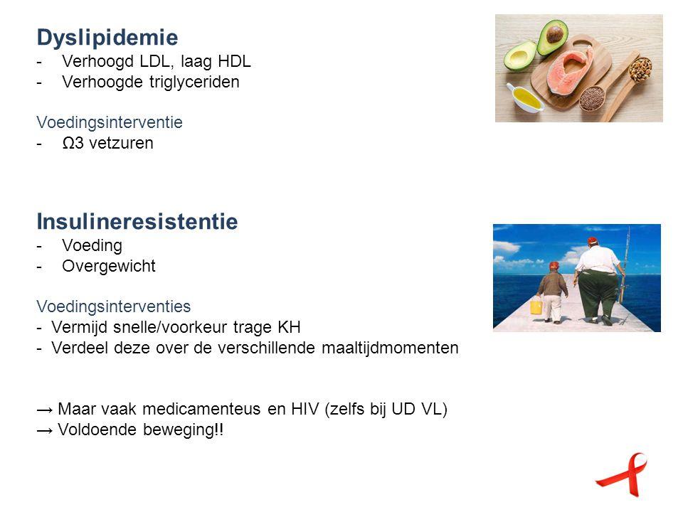 Dyslipidemie Insulineresistentie Verhoogd LDL, laag HDL