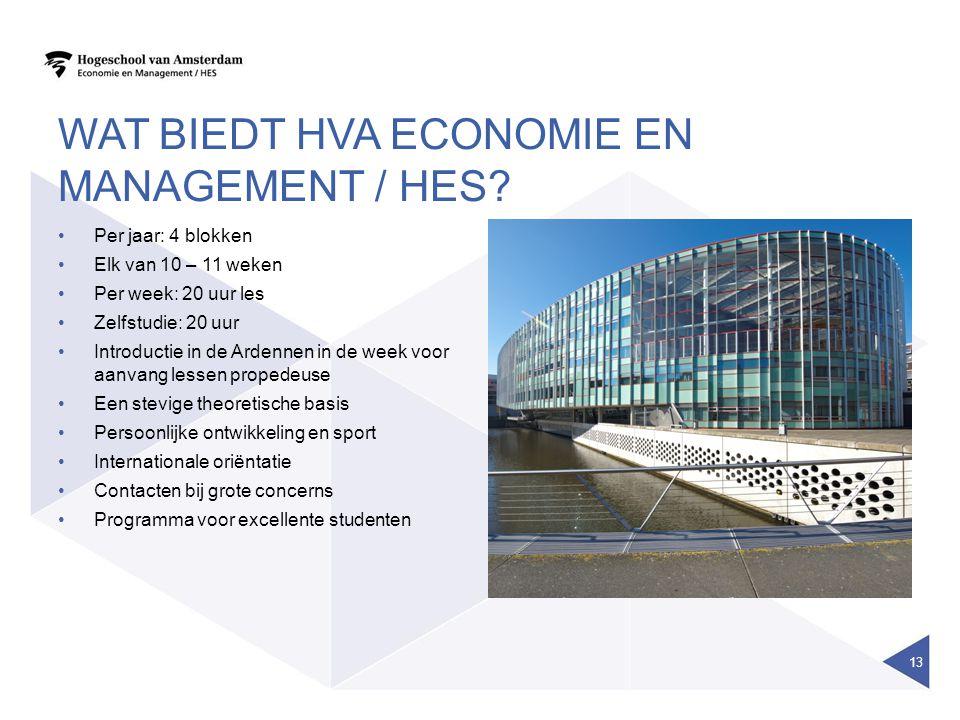 Wat biedt HvA economie en management / hes