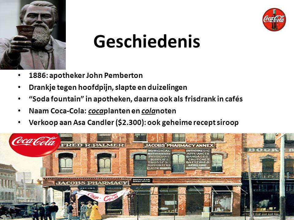 Geschiedenis 1886: apotheker John Pemberton