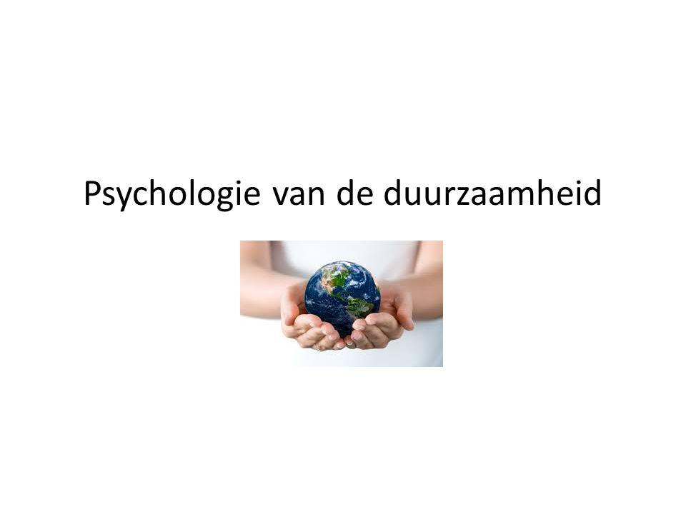 Psychologie van de duurzaamheid