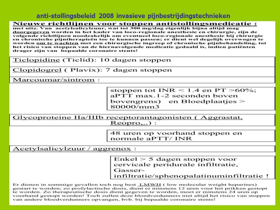 anti-stollingsbeleid 2008 invasieve pijnbestrijdingstechnieken