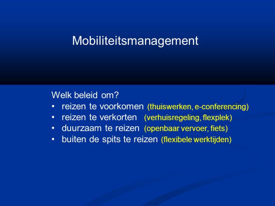 Mobiliteitsmanagement