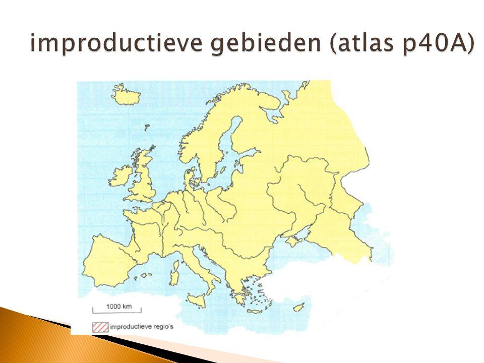 improductieve gebieden (atlas p40A)