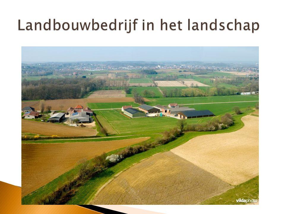 Landbouwbedrijf in het landschap