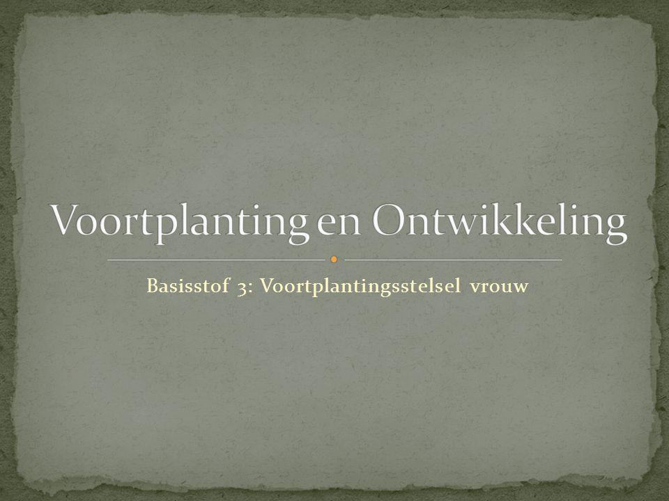 Voortplanting en Ontwikkeling