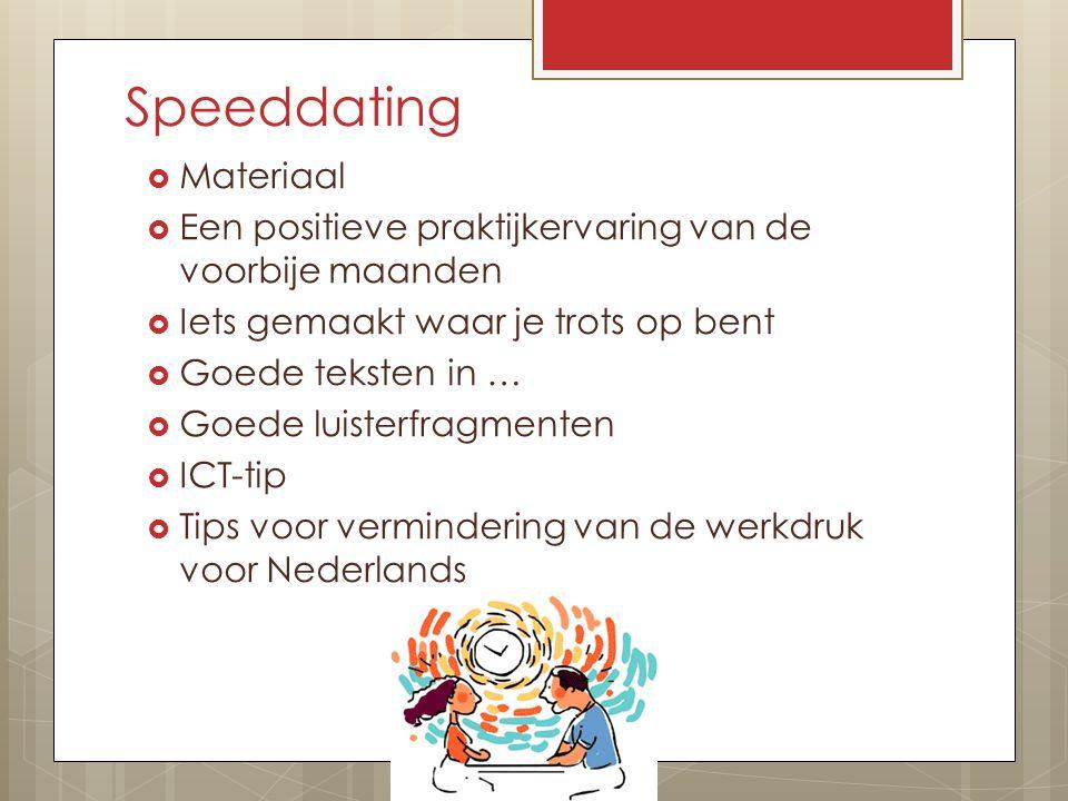 Speeddating Materiaal