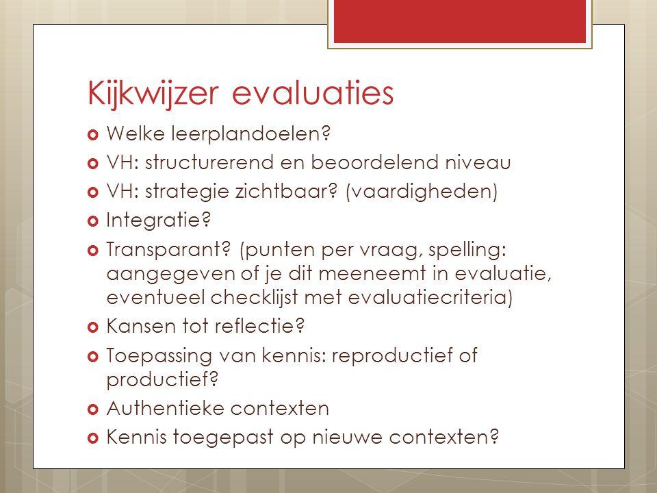 Kijkwijzer evaluaties