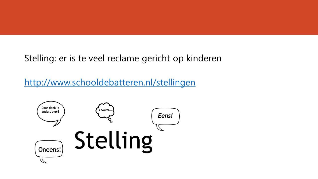 Stelling: er is te veel reclame gericht op kinderen http://www