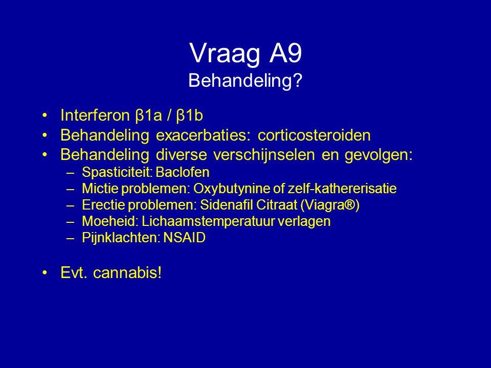 Vraag A9 Behandeling Interferon β1a / β1b