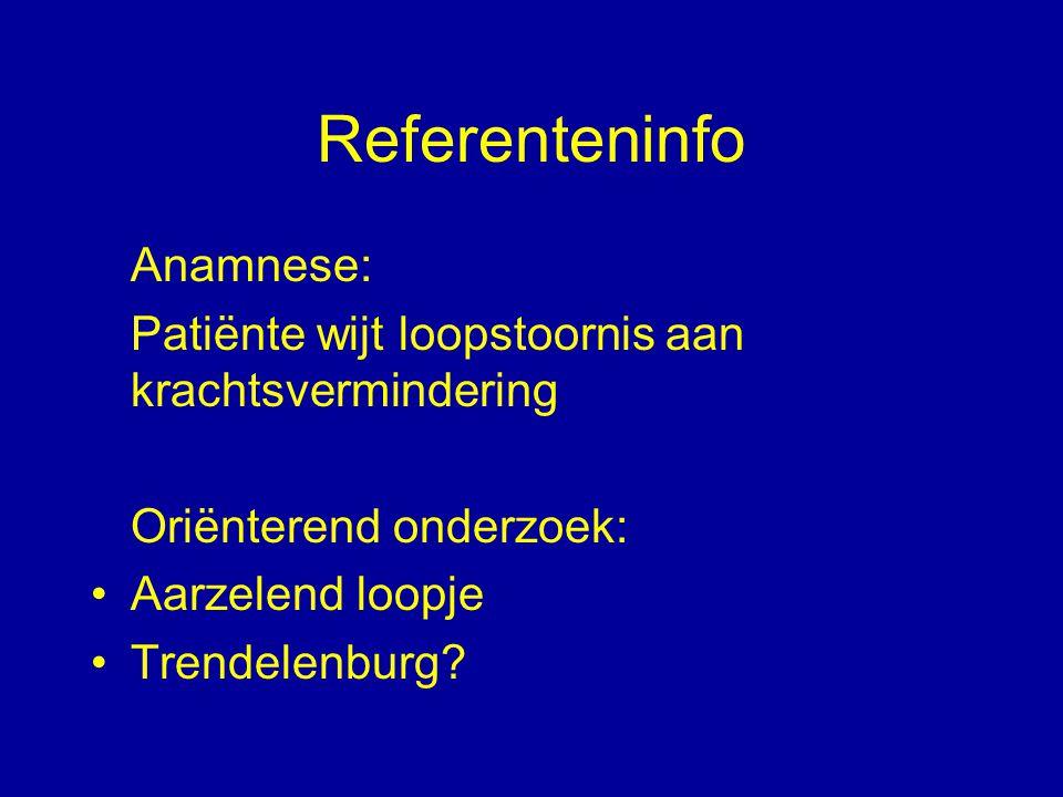 Referenteninfo Anamnese: