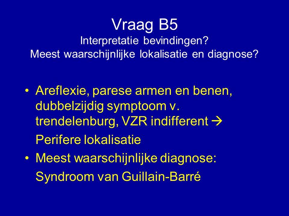 Vraag B5 Interpretatie bevindingen