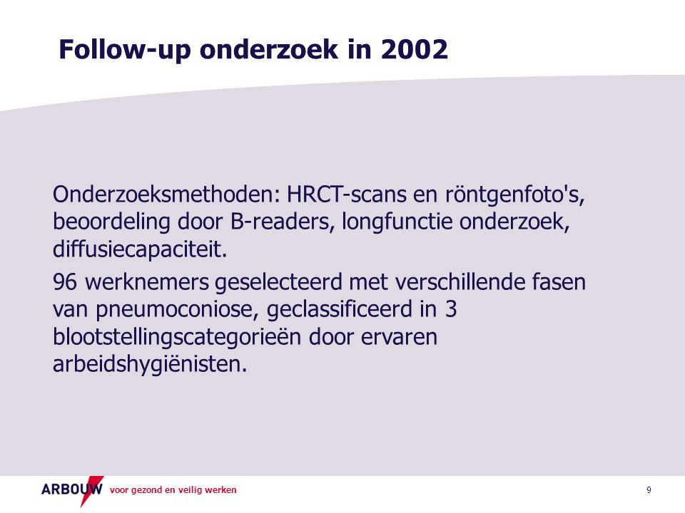 Follow-up onderzoek in 2002