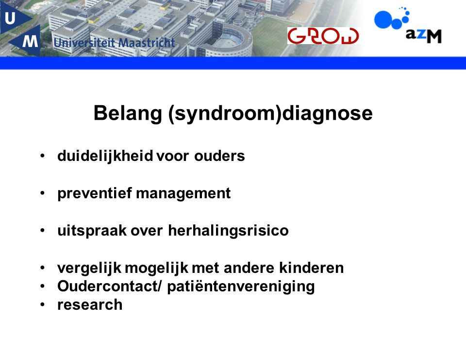 Belang (syndroom)diagnose