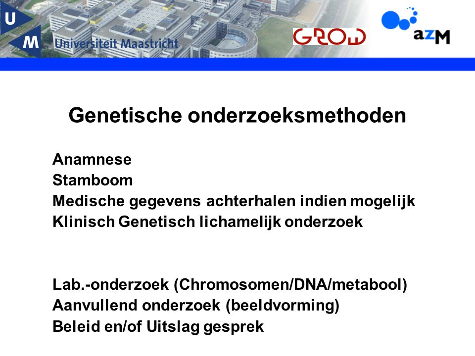 Genetische onderzoeksmethoden