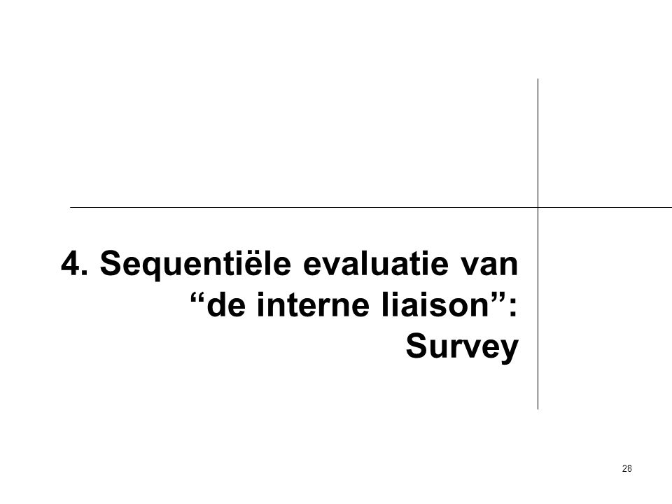 4. Sequentiële evaluatie van de interne liaison : Survey