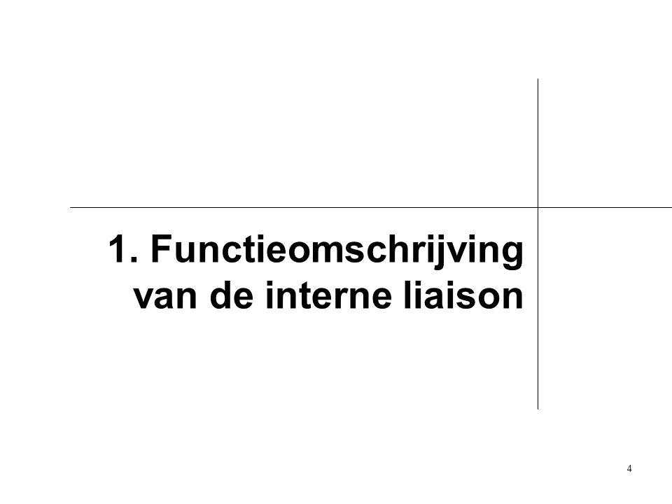 1. Functieomschrijving van de interne liaison