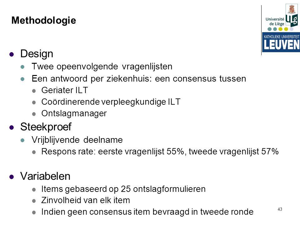 Design Steekproef Variabelen Methodologie