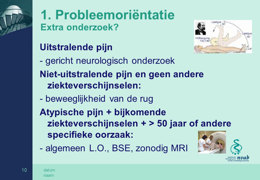 1. Probleemoriëntatie Extra onderzoek