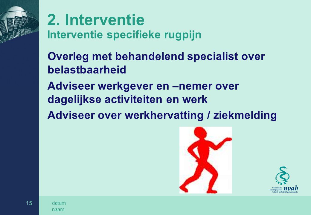 2. Interventie Interventie specifieke rugpijn