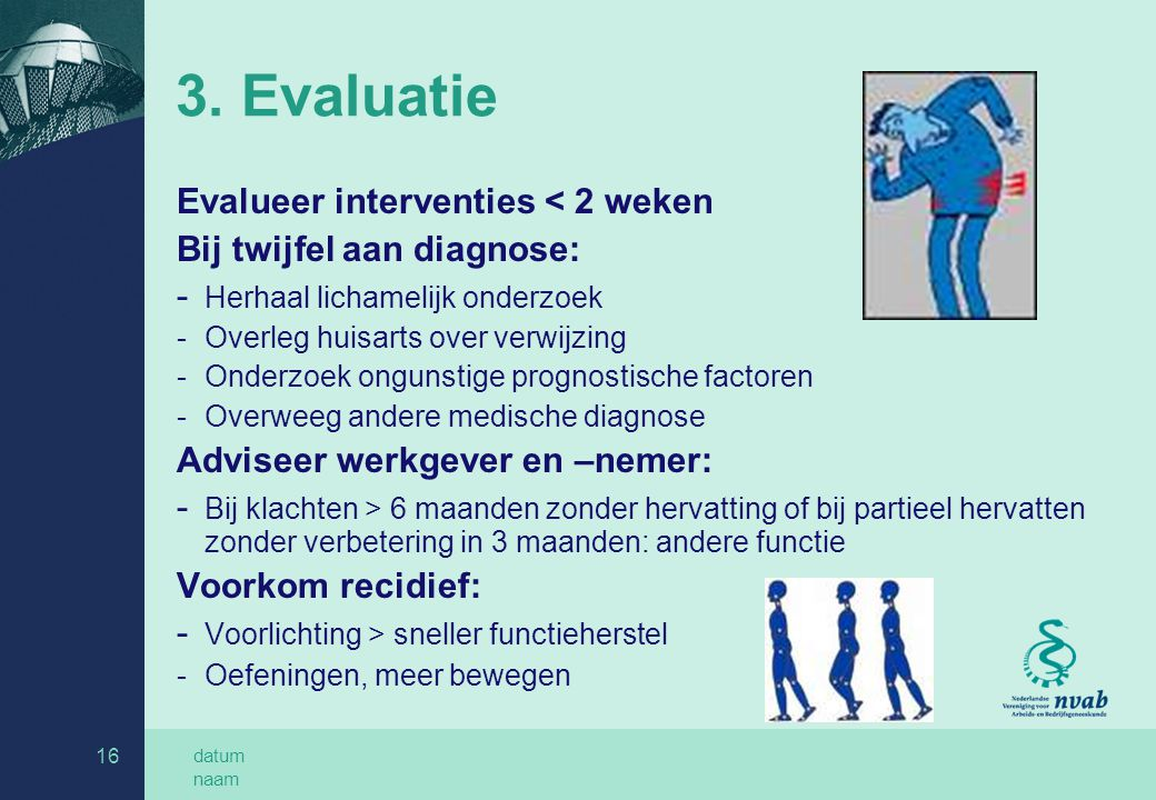 3. Evaluatie Evalueer interventies < 2 weken