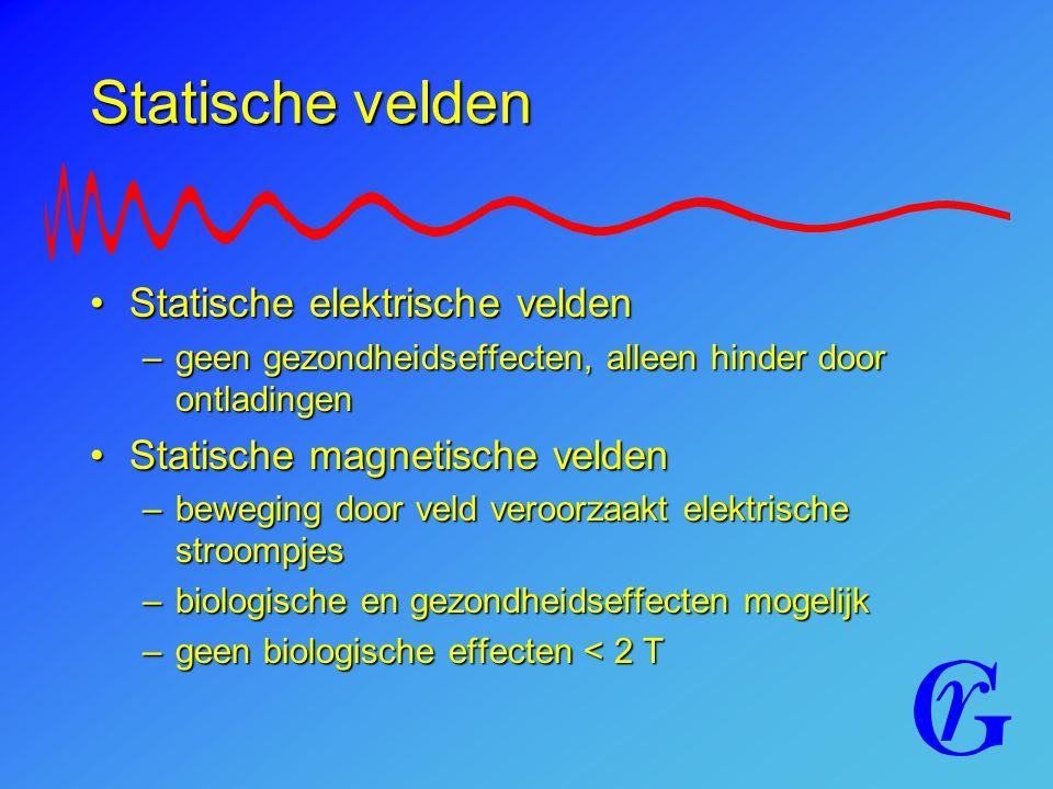 Statische velden Statische elektrische velden