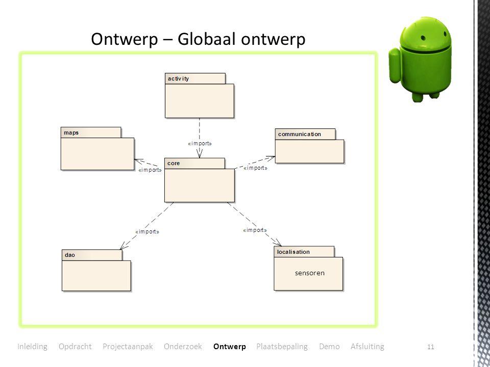 Ontwerp – Globaal ontwerp
