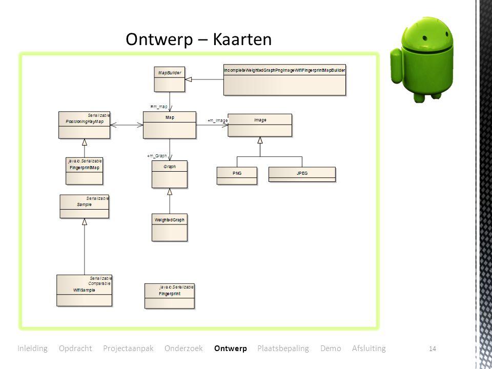 Ontwerp – Kaarten In PositionKeyMap staan de posities voor plaatsbepaling. Graph -> Routebepaling.