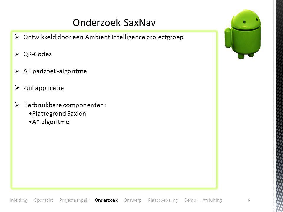 Onderzoek SaxNav Ontwikkeld door een Ambient Intelligence projectgroep