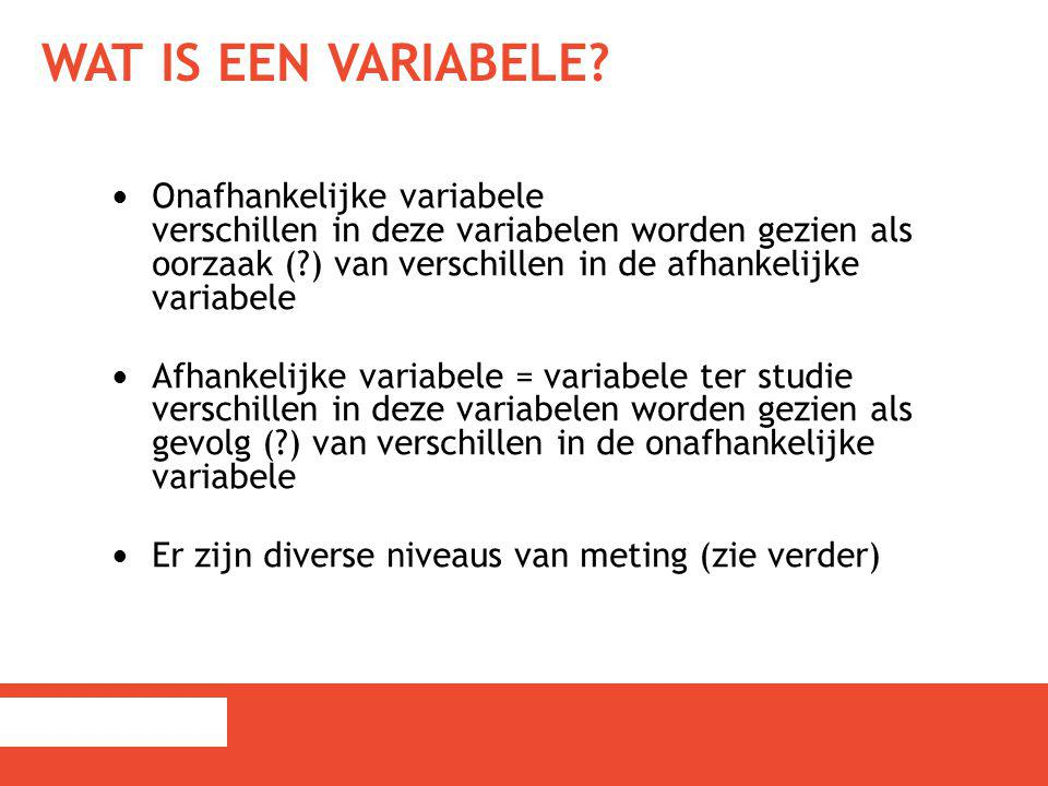 Wat is een variabele