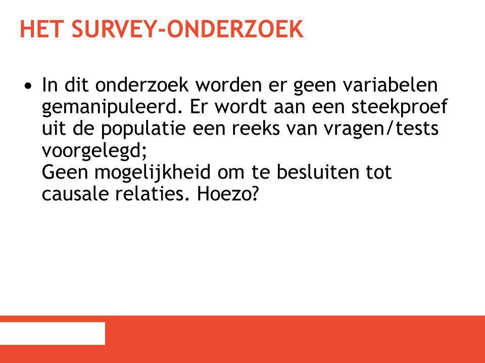 Het survey-onderzoek