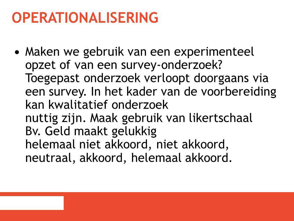 Operationalisering