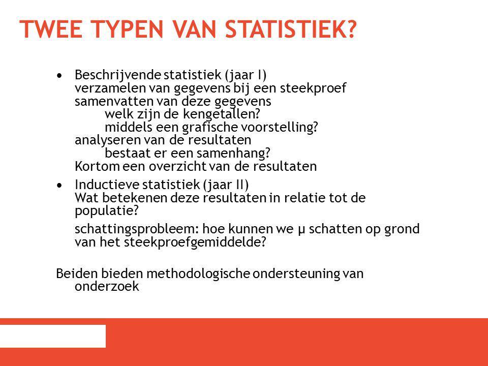 Twee typen van statistiek