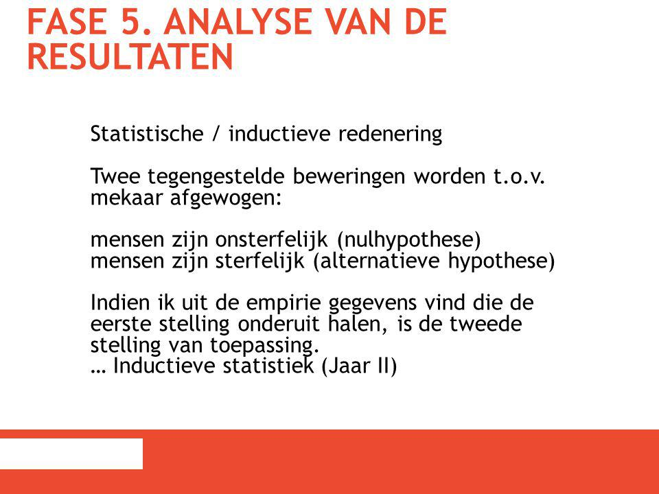 Fase 5. Analyse van de resultaten