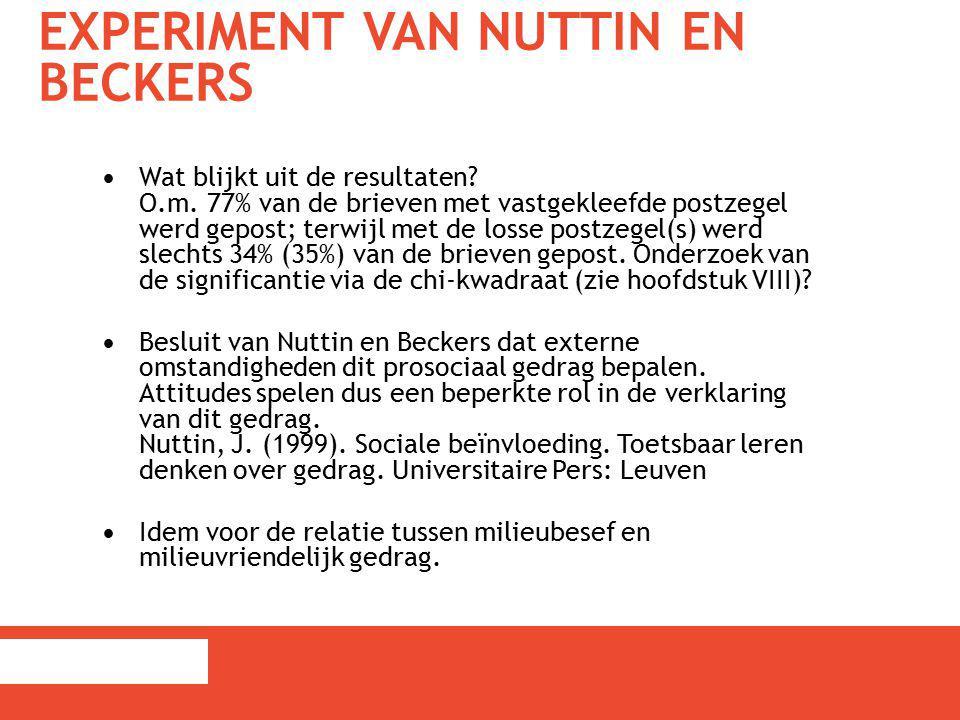 Experiment van Nuttin en Beckers