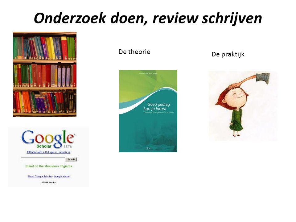 Onderzoek doen, review schrijven
