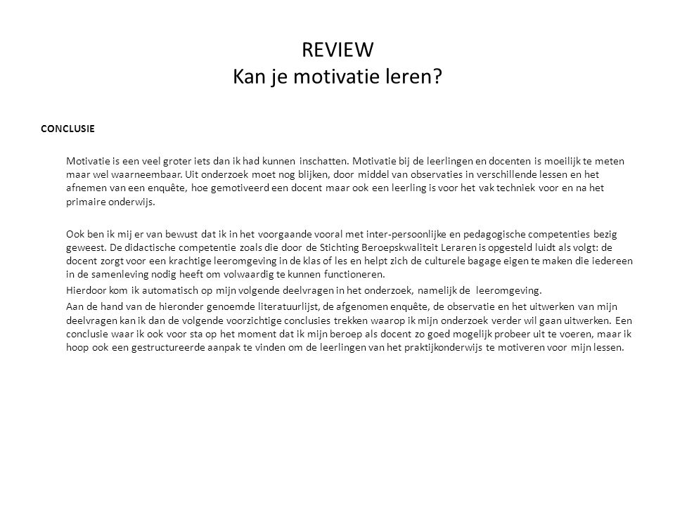 REVIEW Kan je motivatie leren