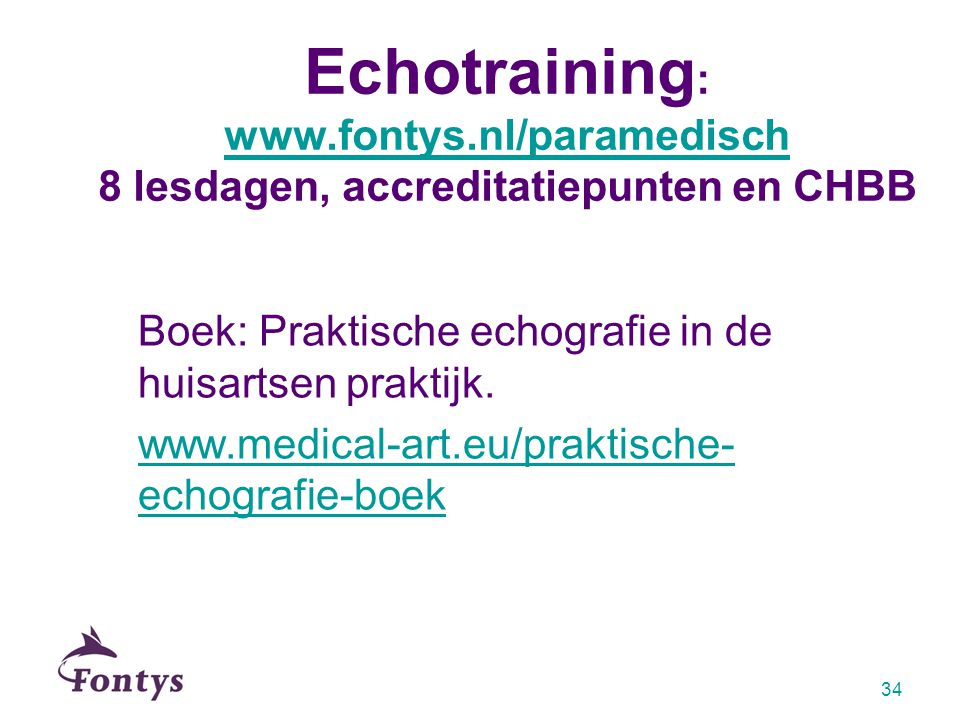 Echotraining: www. fontys