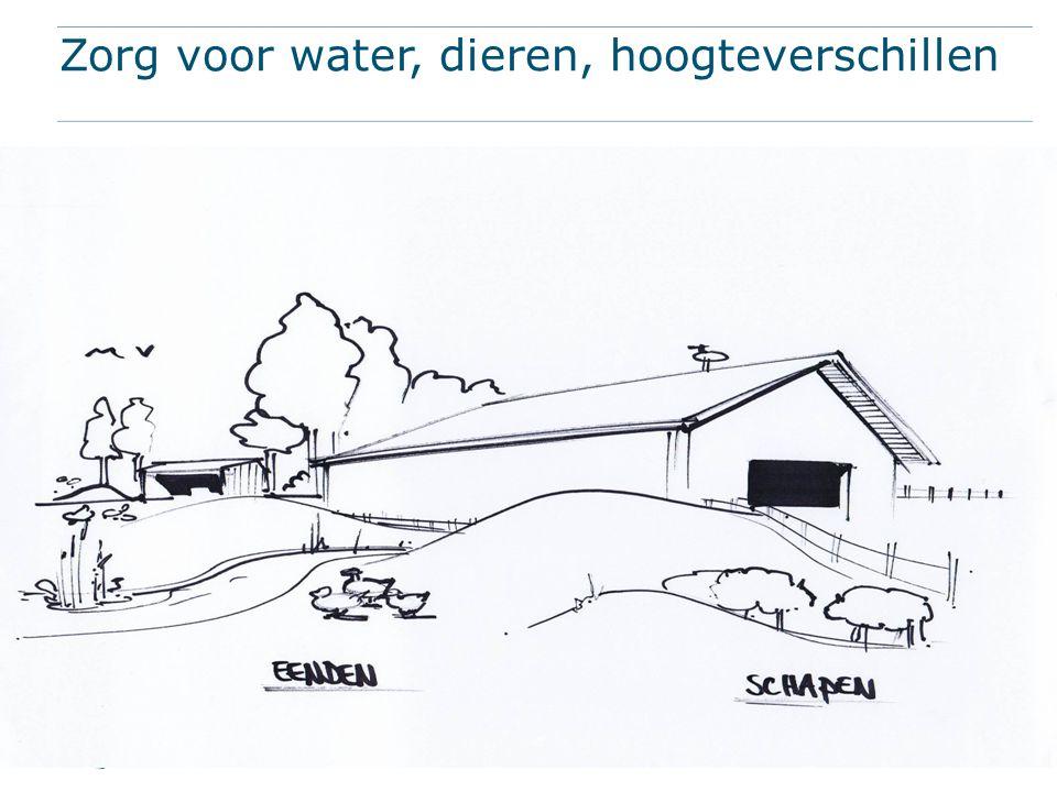 Zorg voor water, dieren, hoogteverschillen