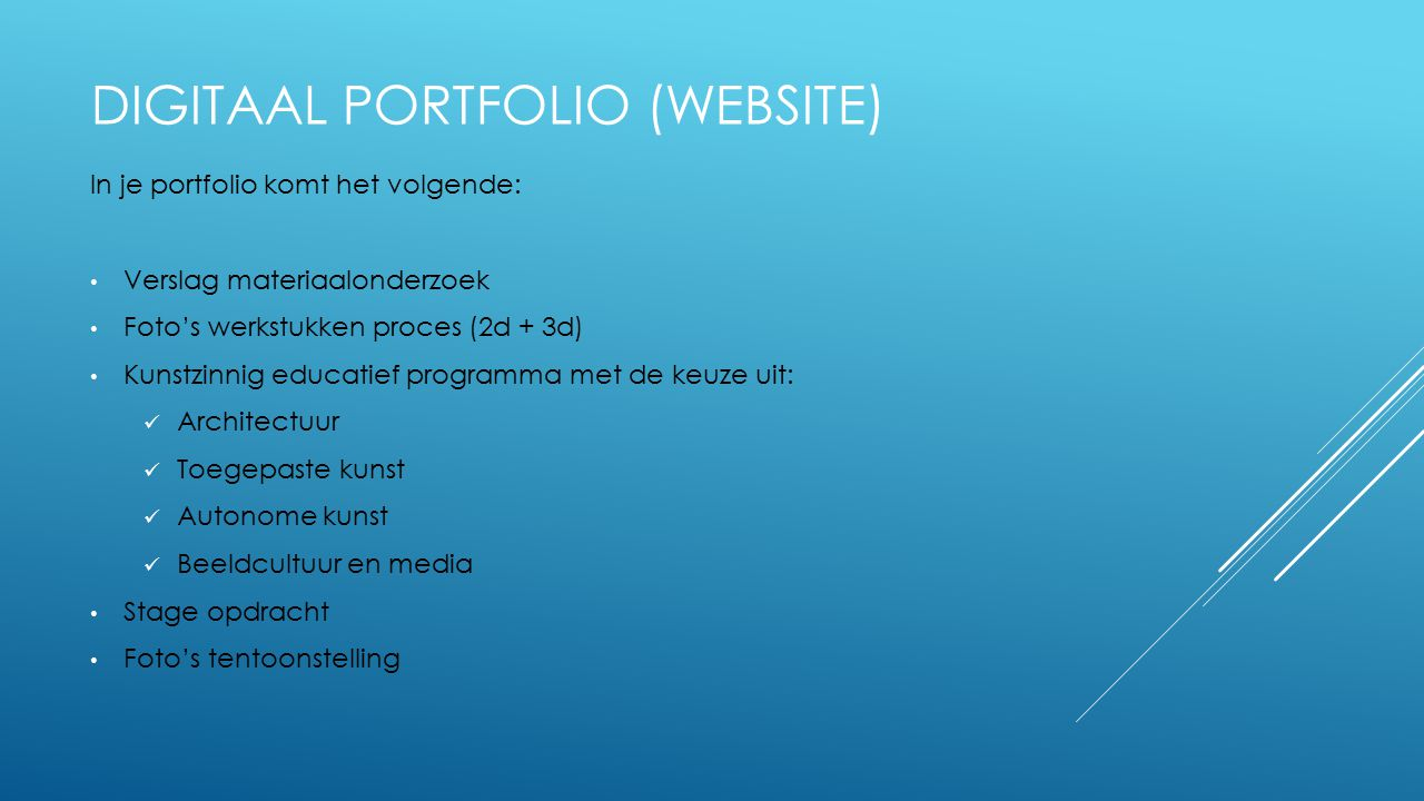 Digitaal PORTFOLIO (website)
