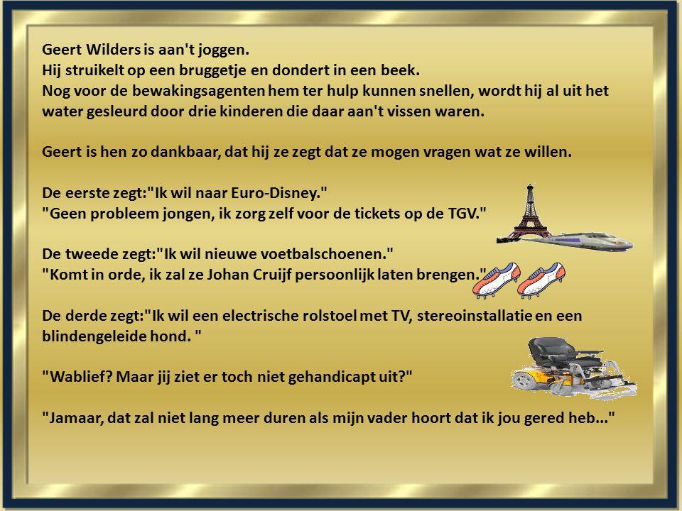 Geert Wilders is aan t joggen