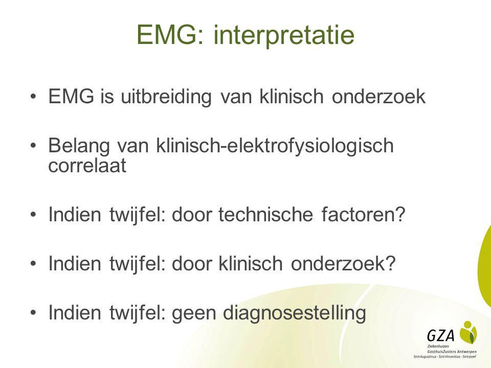 EMG: interpretatie EMG is uitbreiding van klinisch onderzoek