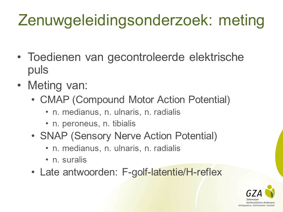 Zenuwgeleidingsonderzoek: meting