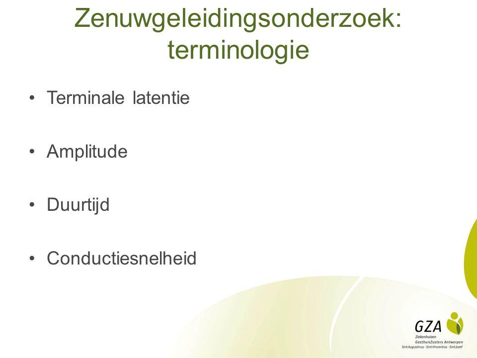 Zenuwgeleidingsonderzoek: terminologie