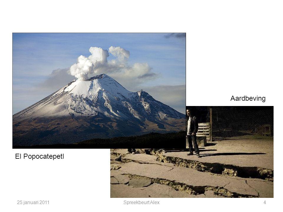 Aardbeving El Popocatepetl 25 januari 2011 Spreekbeurt Alex