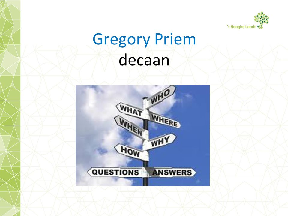 Gregory Priem decaan